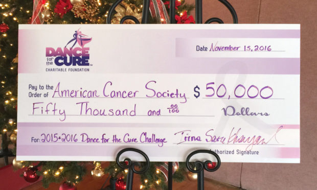 $50,000 to The American Cancer Society